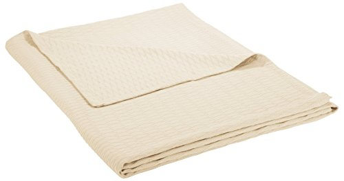 Superior 100% Cotton Thermal Blanket, Soft and Breathable Cotton for All Seasons, Bed Blanket and Oversized Throw Blanket with Luxurious Diamond Weave - Twin Size, Ivory (Blanket Season)
