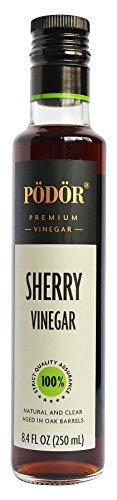 PÖDÖR Premium Sherry Vinegar - 8.4 fl. Oz. - 100% Natural, Aged in Oak...