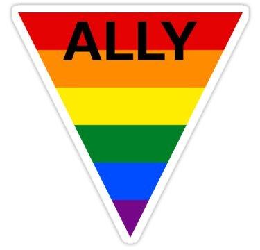 Amazon Lgbt Ally Rainbow Triangle Sticker Graphic Bumper