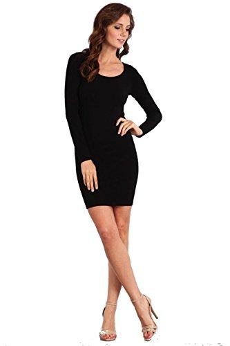 Love My Seamless Women's Ladies Missy One Size Fashion Long Sleeve Seamless Tunic Dress Top