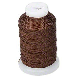 - Simply Silk Beading Thread Cord Size F Chastnut 0.0137 0.3480mm Spool 140 Yards for Stringing Weaving Knotting