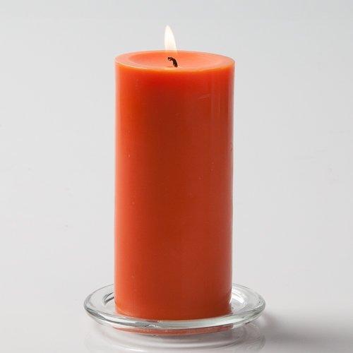 Richland 3'' X 6'' Hand Poured Orange Pillar Candle Set of 6 by Richland