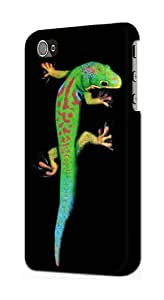 S0125 Green Madagascan Gecko Case Cover for Iphone 4 4s