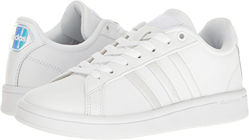 Originals Classic Adidas Shoes (adidas Originals Women's Shoes | Cloudfoam Advantage Sneakers, White/White/Black, (8.5 M US))
