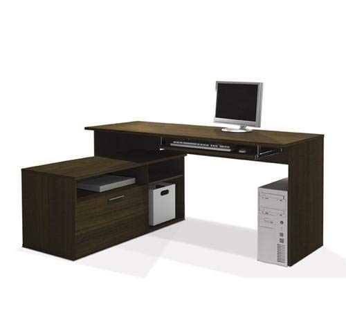 Compact Tuxedo L-Shaped Desk with -