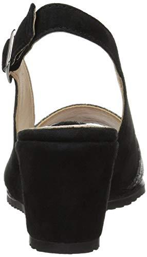 Evia Step Black Leather Women's Style Spring Sandal pAS88