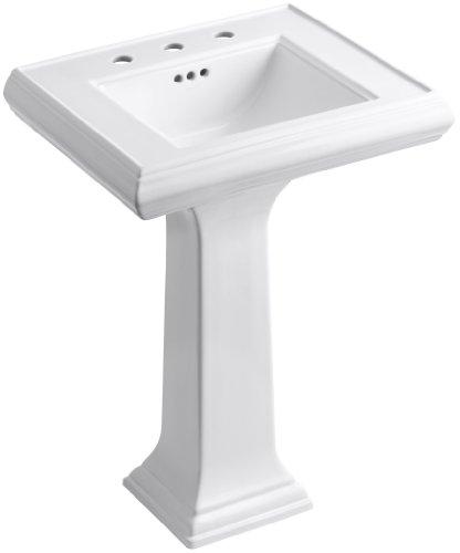 KOHLER K-2238-8-0 Memoirs Pedestal Bathroom Sink with 8