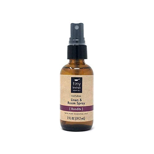 - Bandits Essential Oil Linen and Room Spray - Handmade Natural Aromatherapy Air Freshener (2 oz)