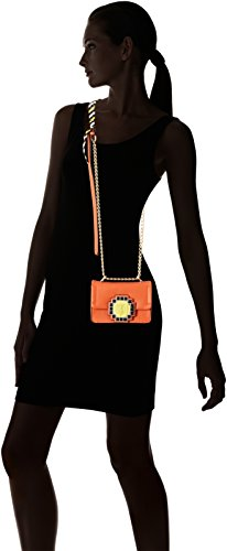 Trussardi Jeans Bluebell, Borsa a Spalla Donna, 17x12.5x7 cm Arancione