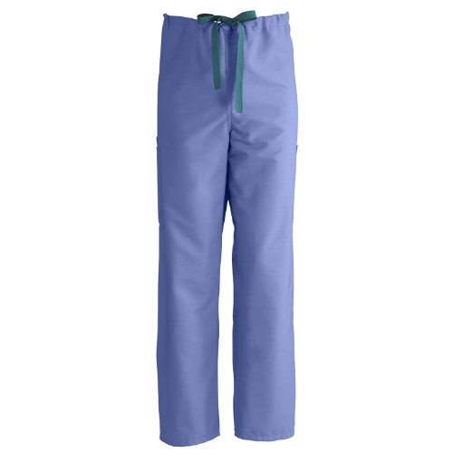 Medline ComfortEase Non-Reversible Cargo Scrub Pant, MDL-CM, Tall-Sml, Ceil Blue Reversible Cargo Pants