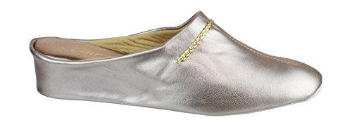 Cincasa Menorca Slip-On Textile Lined Womens Slippers - Pewter - Size 36 37 38 39 40 41 Pewter