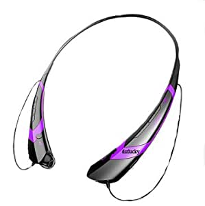 HBS-760 Wireless Bluetooth 4.0 Music Stereo Sports Universal Headset Headphone Vibration Neckband Style for iPhone iPad Samsung LG HTC OPPO (Black+Purple)