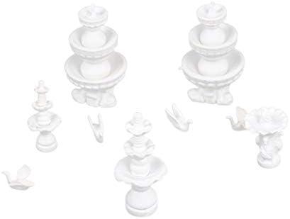 建築モデル 噴水モデル 彫刻模型 ミニチュア 風景 ジオラマ 鉄道模型 装飾品 ドールハウス飾り