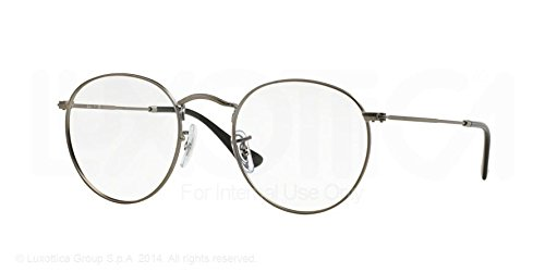 Ray-Ban Round Metal Eyeglasses RX3447V 2620 Matte Gunmetal 47 21 140
