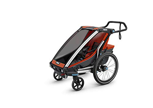 (Thule Chariot Cross Sport Stroller- Single - Roarange/Dark Shadow)