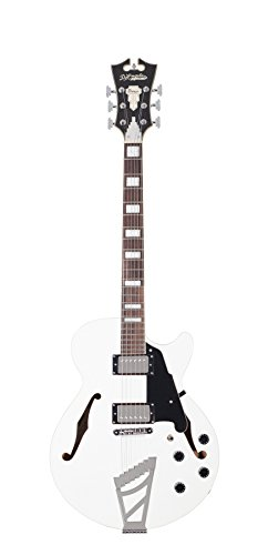 D'Angelico Premier SS Semi-Hollow Electric Guitar w/ Stairstep Tailpiece – White