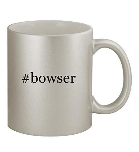 #bowser - 11oz Hashtag Silver Sturdy Ceramic Coffee