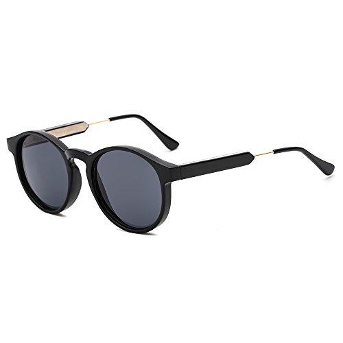 SUERTREE Vintage 80s Sunglasses Women Men Fashion Small Round Sun Glasses Classic Shades Cute Eyewear Retro Eyeglasses Half Metal Arms Rimmed UV400 Protection for Travel Black Frame - Shades Cute
