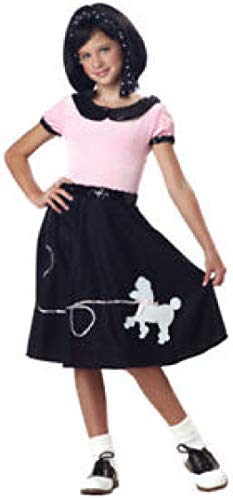 50'S Hop Pink Poodle Skirt Child Costume
