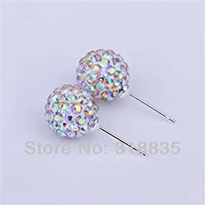 delatcha Fashion jewelry 925 sterling silver Earring Crystal Disco Balls Shamballa Earring aqza jiga rzpa SH-E027