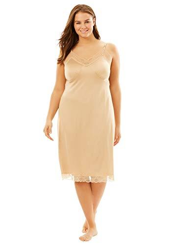 Comfort Choice Women's Plus Size Double Skirted Full Slip - Nude, 26/28