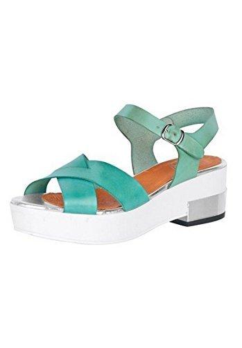 Sandalette Damen aus Nappaleder von Best Connections Grün