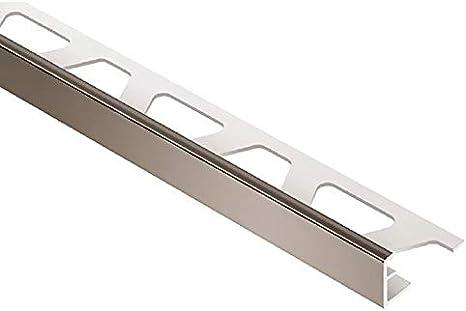 Schluter Jolly Coated Aluminum Tile Edging Trim 1 8 Black Brown Sb Home Improvement