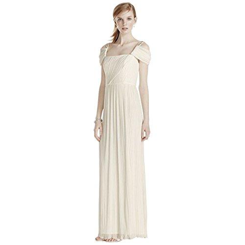 Beaded-Drop-Shoulder-Pleated-Long-Jersey-Wedding-Dress-Style-264861D