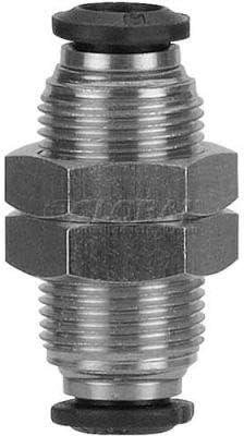 Pkg Qty 3 AIGNEP Bulkhead Union 50050N-12 Pack Of 2 12mm Tube x 12mm Thread