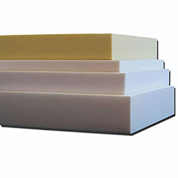 ventadecolchones.com Pieza de Espuma a Medida 50 x 50 x 10 cm - Densidad 25 kg/m3 Extrafirme, para Otras Medidas consúltenos