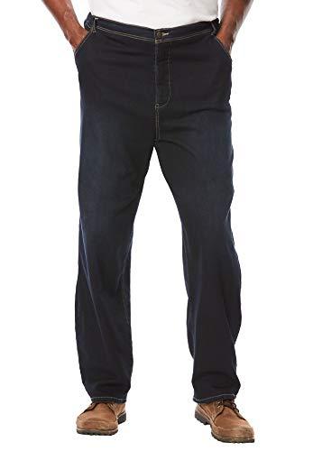 (KingSize Men's Big & Tall 5-Pocket Relaxed Fit Denim Sweatpants, Dark Rinse Tall-L)