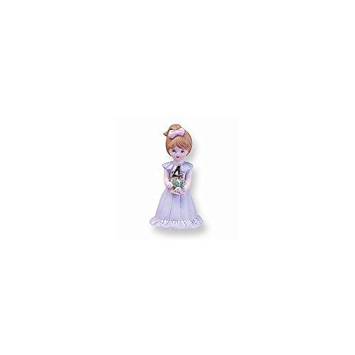 Best Designer Jewelry Brunette Age 4 Porcelain Figurine (Porcelain Age Figurine 4)