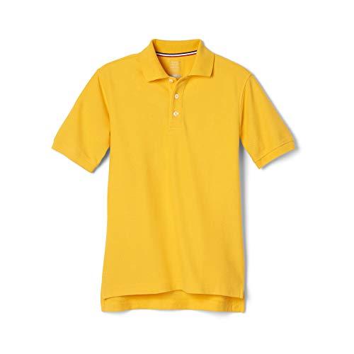 French Toast Boys' Short Sleeve Pique Polo, Gold, Large/14/16/ Husky