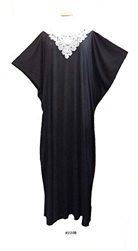 Fionalissa - Vestido - kimono - Sin mangas - para mujer negro