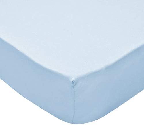 binzhoueushopping Parure de lit 4 pièces en Coton pour Berceau Bleu 60 x 120 cm