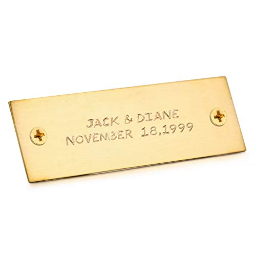MeMeDIY Gold Tone Size 25x76mm Aluminum Office Name Plate Wall Desk Holder Personalized Custom Hand Stamped