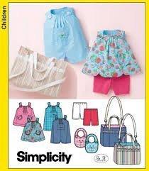 Simplicity Pattern 3808 Babies Top, Romper, Bib, Diaper Bag, and Knit ()