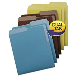 Organized Up Heavyweight Vertical Folders, Assorted Earth Tones, 6/Pack, Sold as 6 Each