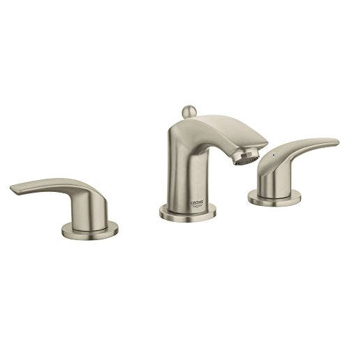 Eurosmart New 8 in. Widespread 2-Handle 3-Hole Bathroom Faucet - 1.2 GPM