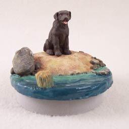Chocolate Labrador Retriever Candle Topper Tiny One \