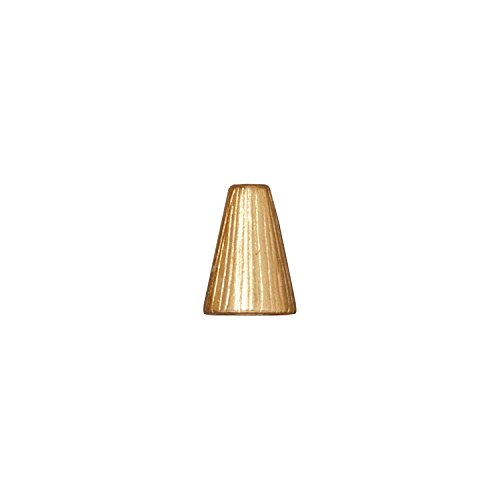 TierraCast Cone Radiant, 9x13mm, 22K Gold Plated Pewter, 3-Pack (Caps Plated Gold Bead Shaped)
