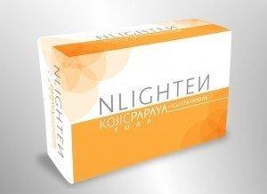 NLighten Kojic Papaya With Glutathione Soap By Nworld, 135 grams (2-Pack)