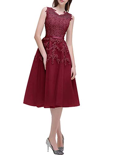 2000 Quinceanera Dress - Gray Short Bridesmaids Dresses Sky Blue Applique Beads Sheer Back Party Gown Dress,Burgundy,4