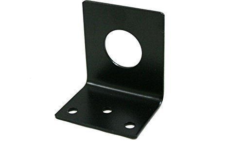 L-Bracket 1255-B 3/4 Hole Stainless Steel Black NMO 3/4 Hole