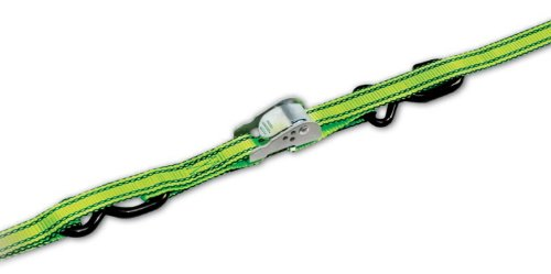 Progrip 4120 Medium Duty Cargo Tie Down Strap with Green Webbing and S-Hook: ME Series Cambuckle, 6' x 1'' (Pack of 2) by Progrip