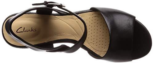 Pulsera Leather Para Clarks Sandalia Mujer Con Maritsa black Negro Janna nnIqPF