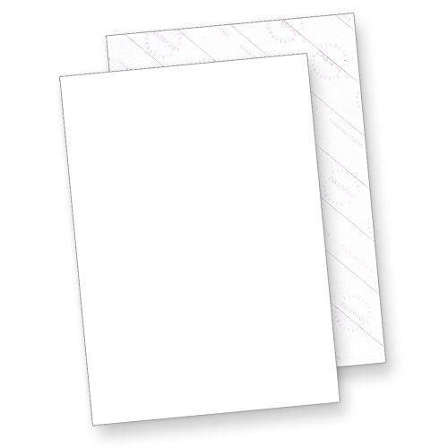 Aufkleber selbstklebend A4 (25 Blatt) weiß matt, Rückseite geschlitzt (Crack-Back) zum Einfachen ablösen, für Laser- und Inkjetdrucker geeignet, Hight Quality