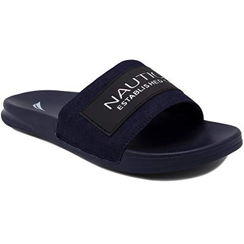 (Nautica Men's Altair 2 Athletic Slide, Comfort Sandal, Shower Slide-Altair 2-Denim/Navy-10)