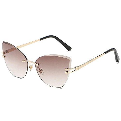 Metal de Sol Gafas para de degradadas Ligeras Premium C5 de UV de y Gafas Mujer Sol Marco Gafas 400 Finas Cateye Sol Aolvo C7 S7wqx