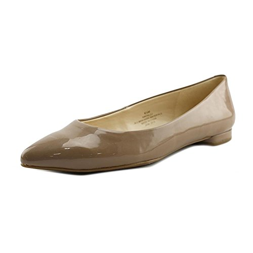 Nine West Womens Onlee Leather Pointed Toe Slide Flats, Tan, Size 6.5 (Nine West Onlee Pointed Toe Ballet Flats)